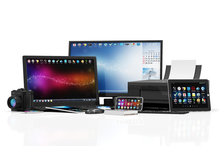 Group of Office Equipment.
