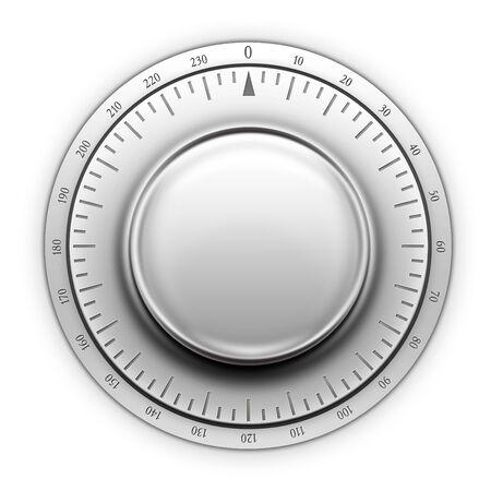 Thermostat on the white background. 2D artwork. Computer Designe