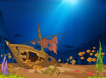 Illustration pour Ocean Underwater World - image libre de droit