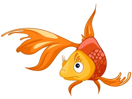 Illustration pour Cartoon Character Fish - image libre de droit