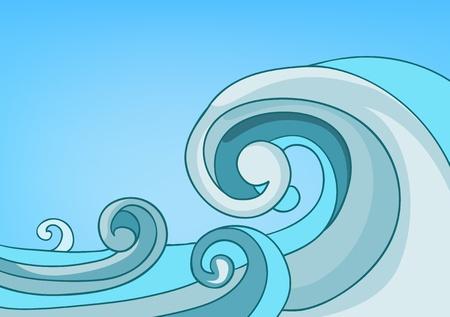 Ilustración de Cartoon Nature Landscape Sea - Imagen libre de derechos