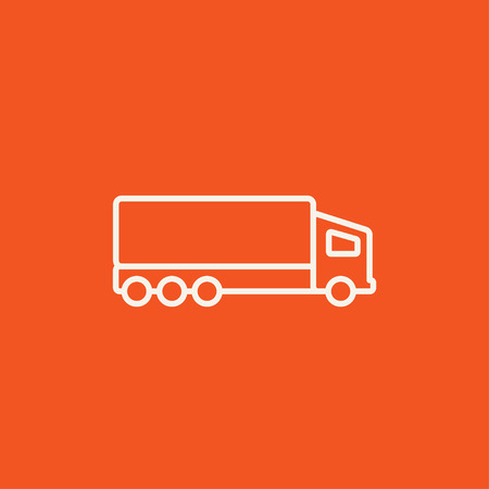Delivery Truck Line Icon For Web Mobile And Infographics