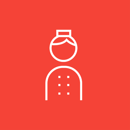 Illustration pour Bellboy thick line icon with pointed corners and edges for web, mobile and infographics. Vector isolated icon. - image libre de droit