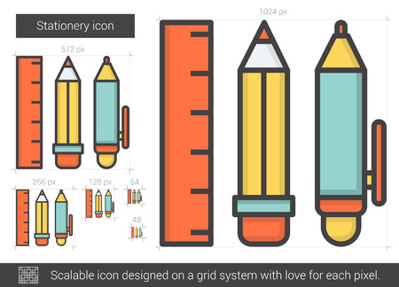 Stationery line icon.