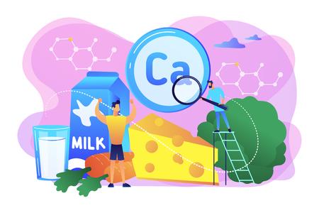 Illustration pour Uses of Calcium concept vector illustration. - image libre de droit