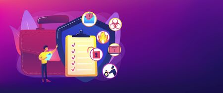 Illustration pour Business continuity and disaster recovery concept banner header - image libre de droit