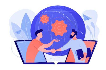 Illustration pour Online conference and business concept vector illustration. - image libre de droit