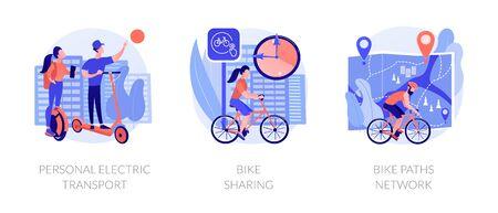 Illustration pour Eco friendly urban transport vector concept metaphors - image libre de droit