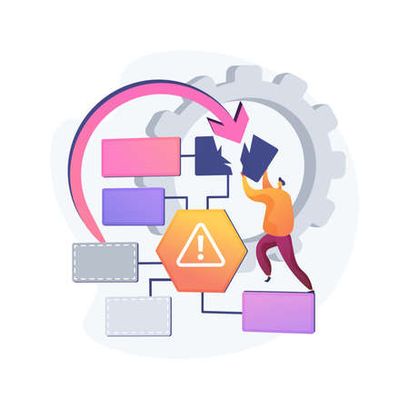 Illustration pour Business continuity and disaster recovery abstract concept vector illustration. - image libre de droit
