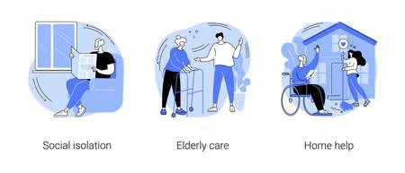 Illustration pour Older people living abstract concept vector illustrations. - image libre de droit