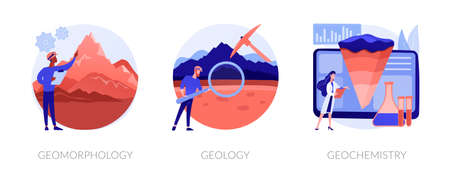Illustration for Earth science abstract concept vector illustrations. - Royalty Free Image
