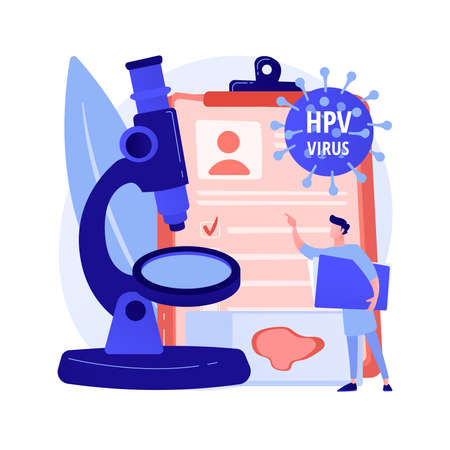 Illustration pour HPV test abstract concept vector illustration. - image libre de droit
