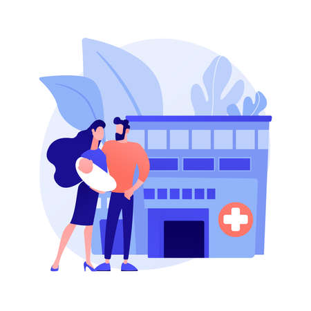 Illustration for Maternity services abstract concept vector illustration. - Royalty Free Image