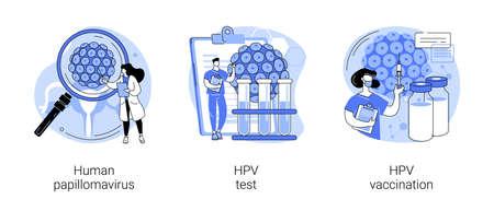 Illustration pour HPV infection abstract concept vector illustrations. - image libre de droit