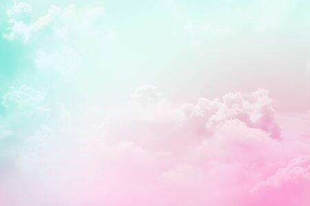 Photo pour artistic soft cloud and sky with pastel color  ,nature abstract background - image libre de droit