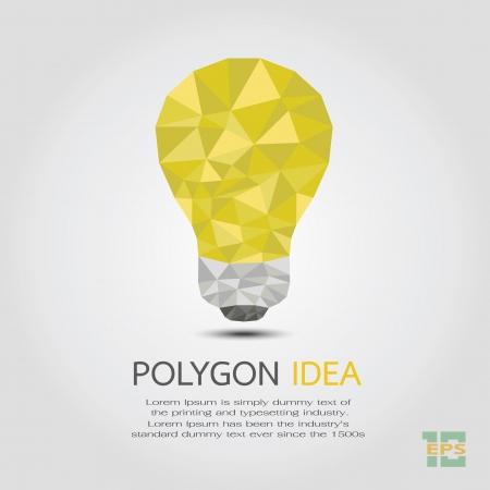 Polygon Idea , eps10 vector format