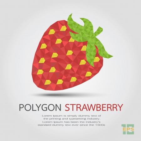 Polygon Strawberry , eps10 vector format