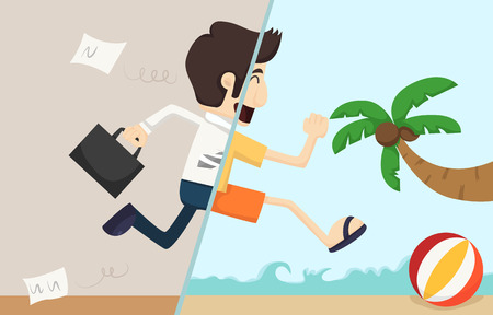 Illustration pour Businessman relax    - image libre de droit