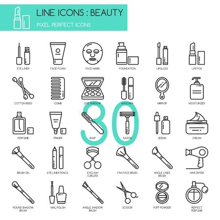 Illustration for Beauty , thin line icons set ,pixel perfect icon - Royalty Free Image