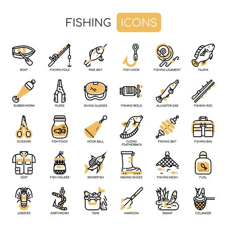 Fishing , Thin Line and Pixel Perfect Icons