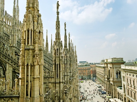 View from Milan Cathedral Dome