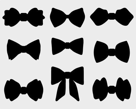 Black silhouettes of bow ties