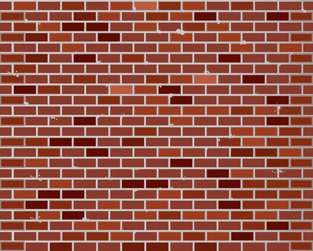 Illustration for Red brick wall seamless, texture pattern for continuous replicate - Royalty Free Image