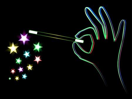 Neon Magic Trick