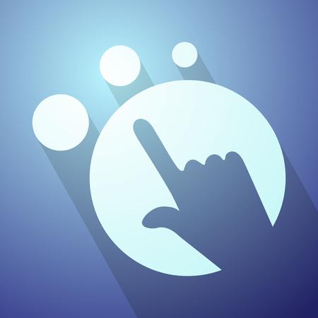 futuristic pointing symbol