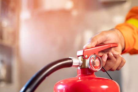 Photo pour Fire extinguishers for protection fire at high-rise buildings - image libre de droit