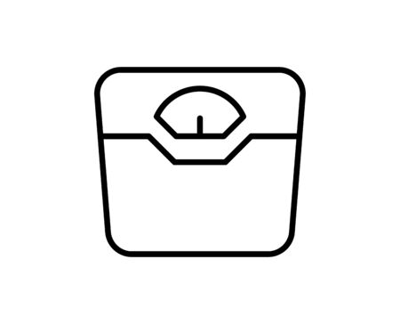 Illustration for Weight scale premium line icon. Simple high quality pictogram. Modern outline style icons. Stroke vector illustration on a white background.  - Royalty Free Image