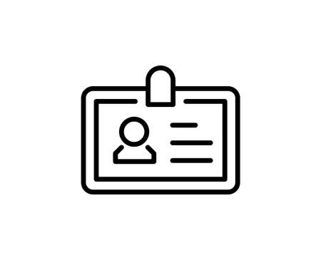 Illustration pour Persanal card line icon. Vector symbol in trendy flat style on white background. Web sing for design. - image libre de droit