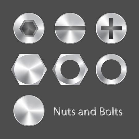 Illustration pour Nuts and bolts - image libre de droit