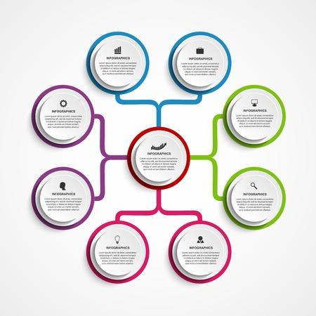 Illustration pour Infographic design organization chart template. - image libre de droit
