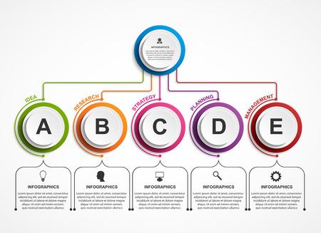 Ilustración de Infographic design organization chart template. - Imagen libre de derechos