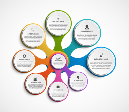 Illustration pour Abstract options infographics template. Infographics for business presentations or information banner. - image libre de droit