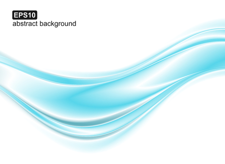 Illustration pour Abstract blue waves background. Vector design for banners, presentations, flyers, invitations. - image libre de droit