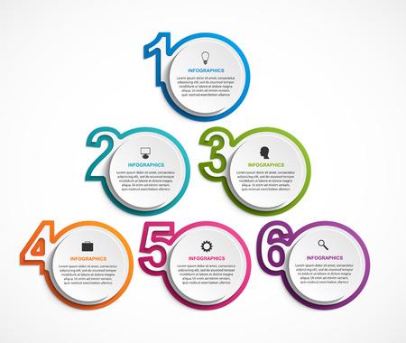 Illustration pour Numeric infographic template. Infographics for business presentations or information banner. - image libre de droit