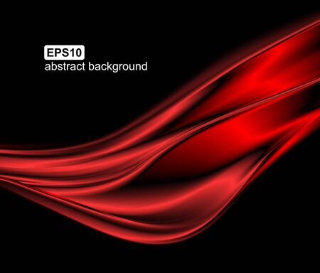 Illustration for Abstract light wave futuristic background. Vector illustration. - Royalty Free Image