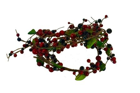 A wreath made of berries and leaves