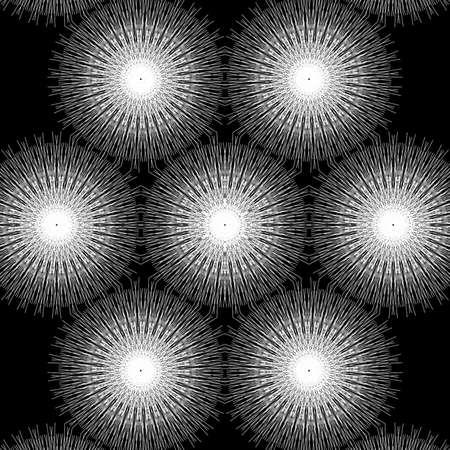 Photo pour White pattern Design in black background - image libre de droit