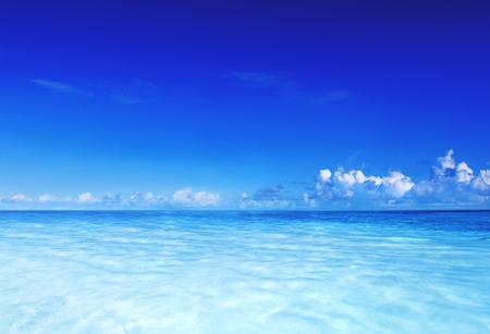 Paradise Sea Ocean Sky Blue Tropical Summer Vacation Concept