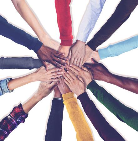 Photo pour Group of Human Hands Holding Together Concept - image libre de droit