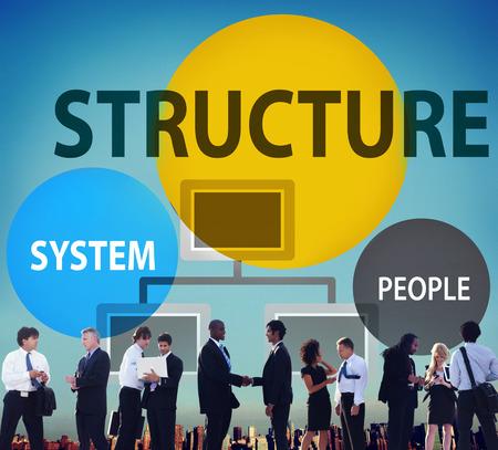 Photo pour Business Structure Flowchart Corporate Organization Concept - image libre de droit