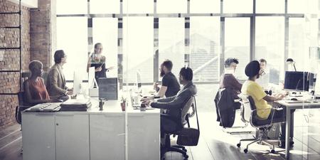 Photo pour Business team Meeting Working Talking Concept - image libre de droit