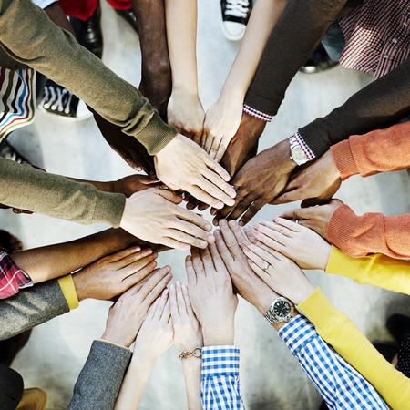 Photo pour Group of Diverse Hands Together Joining Concept - image libre de droit