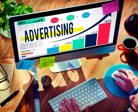 Photo pour Advertising Advertise Branding Commercial Marketing Concept - image libre de droit