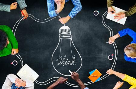 Photo pour Idea Creativity Inspiration Thought Planning Concept - image libre de droit