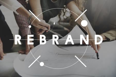 Photo pour Rebrand Change Identity Branding Style Image Concept - image libre de droit