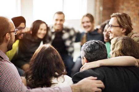 Photo pour Team Huddle Harmony Togetherness Happiness Concept - image libre de droit